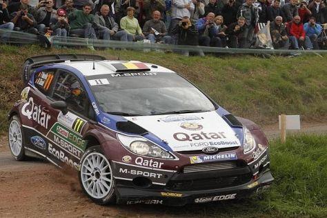 Thierry Neuville kämpfte bei der Rallye Frankreich erneut um den Sieg