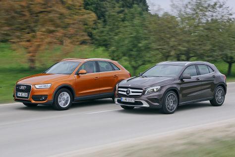 Audi Q3 Vs Q5 >> SUV-Vergleich: Mercedes GLA trifft auf Audi Q3 - autobild.de