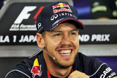 Sebastian Vettel  bei der Pressekonferenz