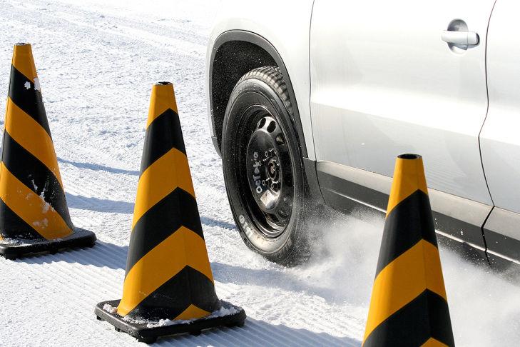 Winterreifen-Test: Traktions-Messung