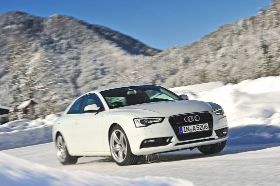 Audi A5 mit Michelin Wintereifen