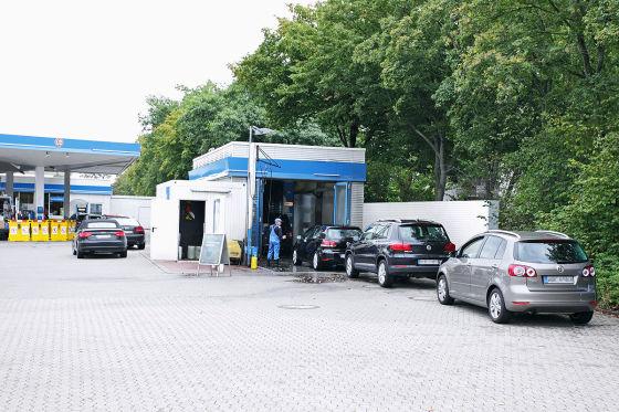 Die sauberste Portalanlage ist in Wolfsburg. Sie hat gewonnen, weil dort eine manuelle Vorwäsche dabei ist.
