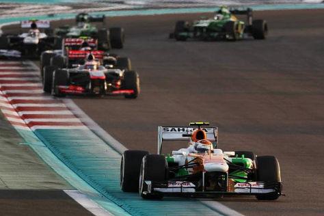 Alles für das Team: Sutil bremste für di Resta in Abu Dhabi die Konkurrenten ein