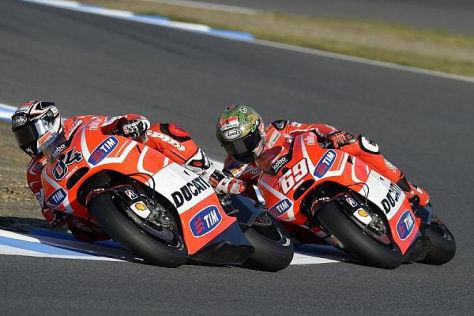 Andrea Dovizioso und Nicky Hayden hoffen auf gute Ergebnisse in Valencia