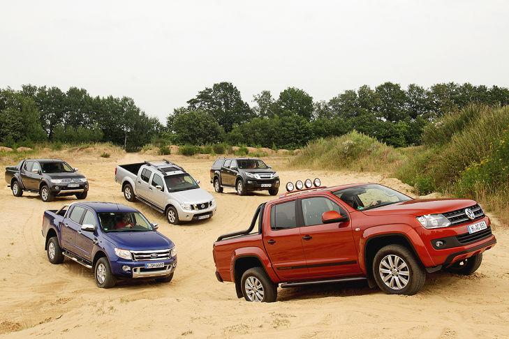 Fünf Pickups im Vergleich - Bilder - autobild.de