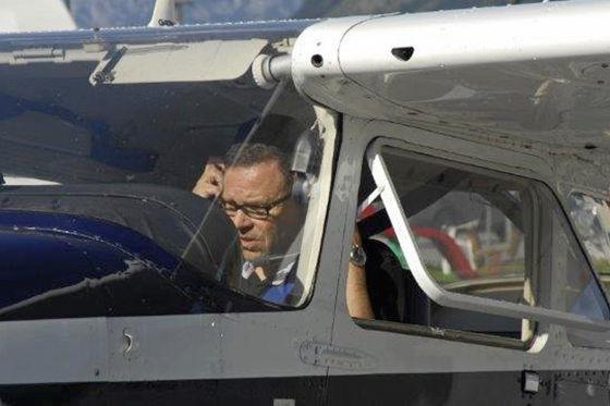Peter Schreyer als Pilot