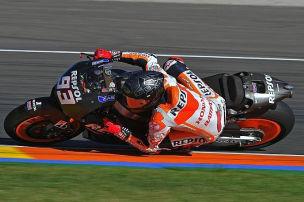 Marquez bestimmt zweiten Testtag in Valencia