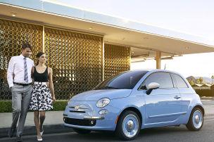 Fiat 500 voll auf Retro