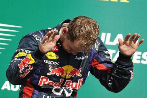 Der Start in Austin: Vettel auf der Pole-Position vor Webber und Grosjean