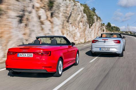 Offener Fahrspa 223 Audi A3 Cabrio Trifft Auf Opel Cascada