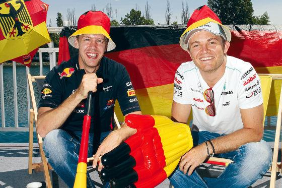 Sebastian Vettel Nico Rosberg