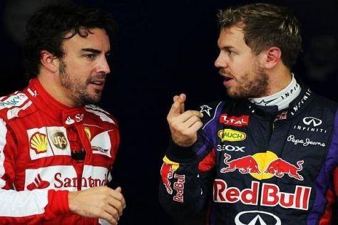 Fernando Alonso und Sebastian Vettel - wer hat bei den Fahrern die Nase vorne?