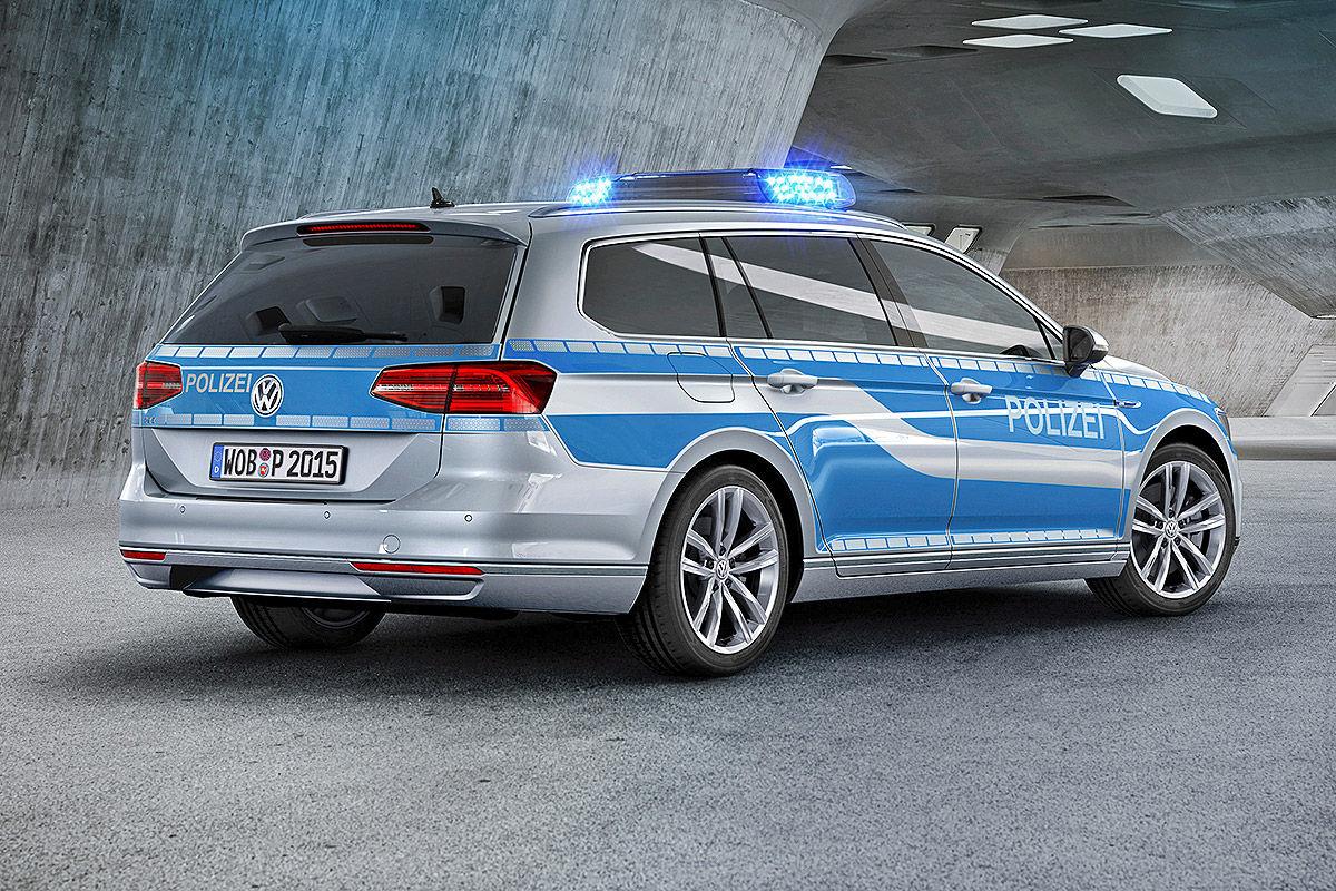 VW Passat GTE als Polizeiwagen