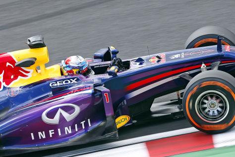 Sebastian Vettel im Red Bull Renault RB9