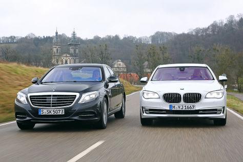 Vergleich Mercedes S Klasse Trifft Bmw 7er Autobild De