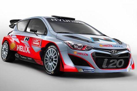 Der neue Hyundai i20 WRC in der Einsatzlackierung