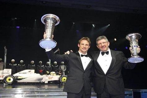 Jenson Button und Ross Brawn werden von der FIA als Weltmeister 2009 geehrt