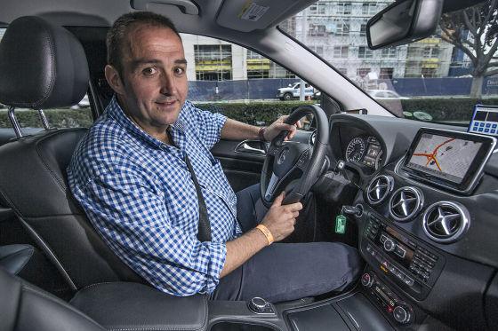 Thomas Geiger in der Mercedes Benz B-Klasse Electric Drive