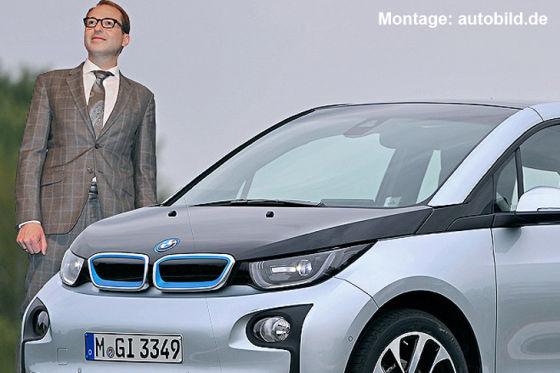 BMW i3 und Minister Dobrindt (Montage)