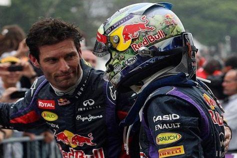 Sebastian Vettel hat Mark Webber im Jahr 2013 in seine Schranken verwiesen