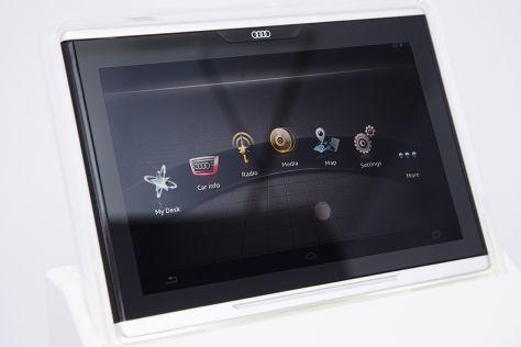 audi smart display auf der ces 2014 das ipad von audi. Black Bedroom Furniture Sets. Home Design Ideas