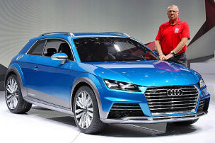 Sitzprobe im Audi-Concept