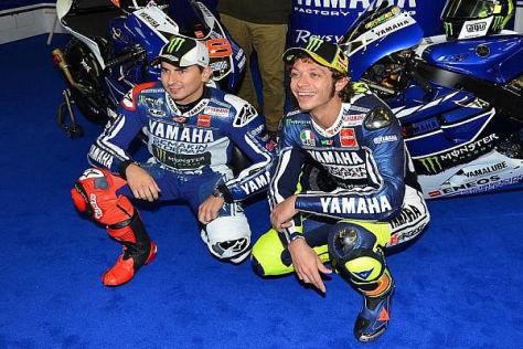Jorge Lorenzo und Valentino Rossi werden auch 2014 das Yamaha-Werksteam bilden