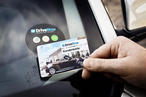 Öffnen eines DriveNow-Autos
