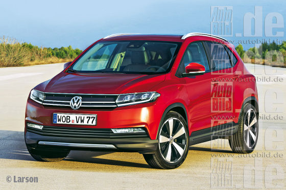 VW Polo SUV Illustration Frontansicht
