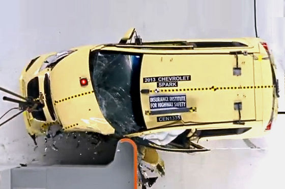 IIHS-Crashtest Chevrolet Spark