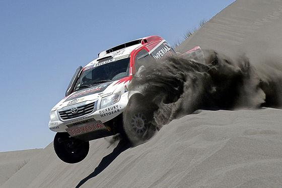 Der Toyota von Giniel de Villiers/Dirk von Zitzewitz