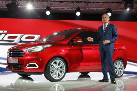 Ford Figo Concept: Präsentation in Delhi