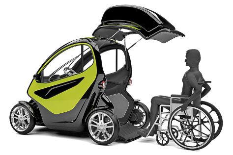 Equal: Stadtauto für Rollstuhlfahrer