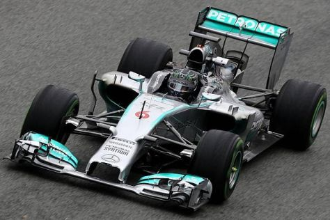 Nico Rosberg ist von der Laufleistung seines neuen F1 W05 bereits überzeugt