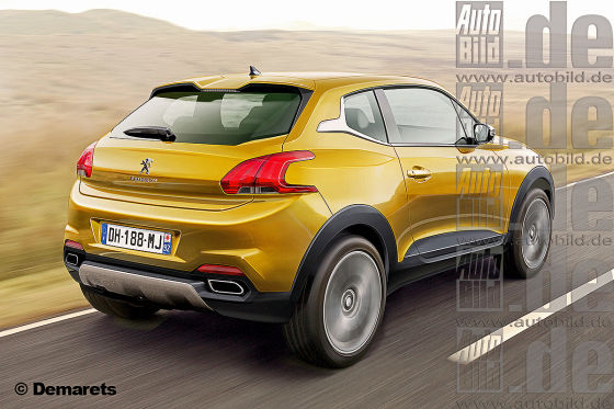 Peugeot 2008 3door SUV Illustration