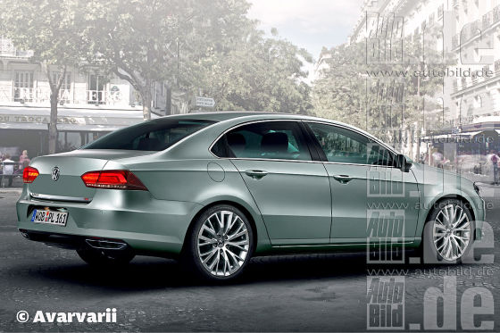 VW Passat Limousine Illustration