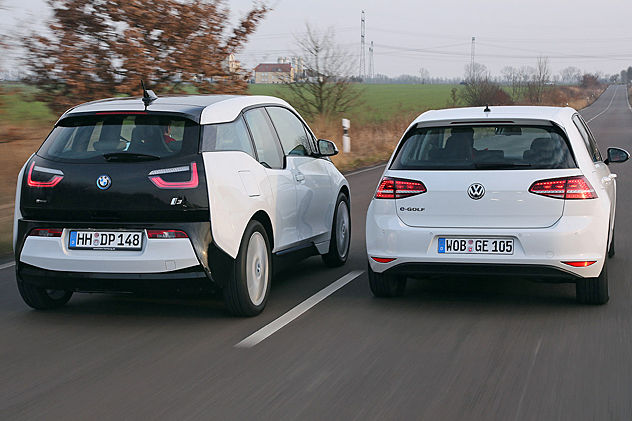 Video Bmw I3 Vs Vw E Golf Autobild De