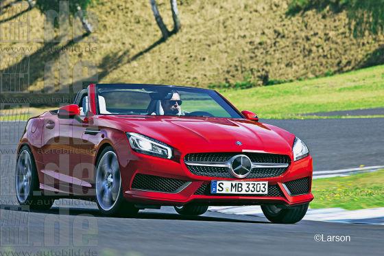 Mercedes SLK R 173 llustration