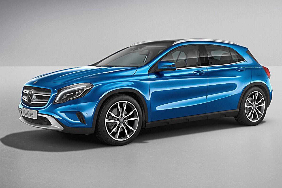 Mercedes A Klasse Hellblau
