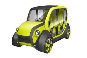 Ultraleichtes E-Taxi