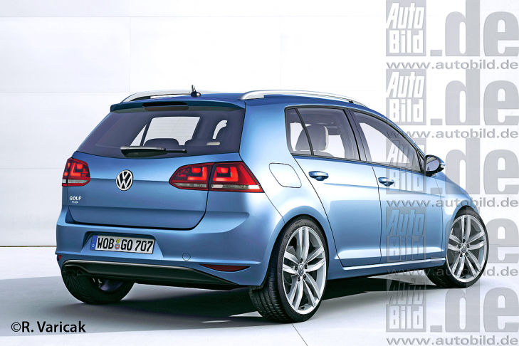 VW Golf VII Plus Illustration Heckansicht
