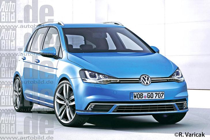VW Golf VII Plus Illustration Vorderansicht
