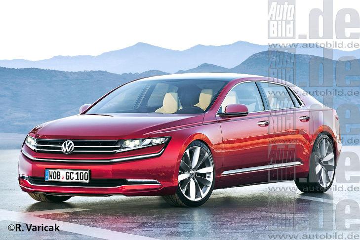 VW Phaeton Illustration Vorderansicht