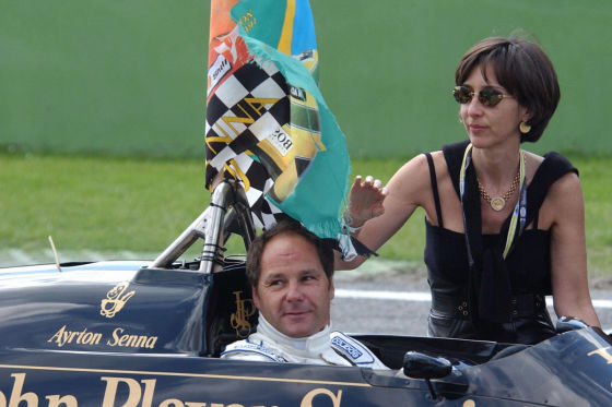 Gerhard Berger & Viviane Senna