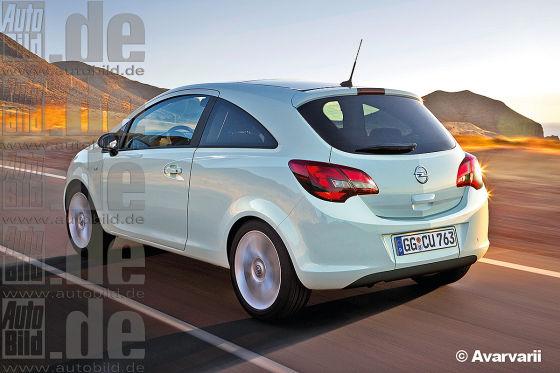 Opel Corsa E Illustration
