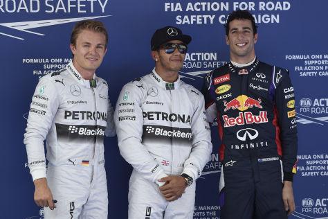 Rosberg, Hamilton & Ricciardo