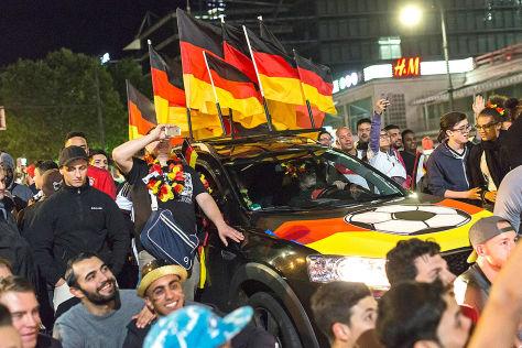 Autokorso in Frankfurt