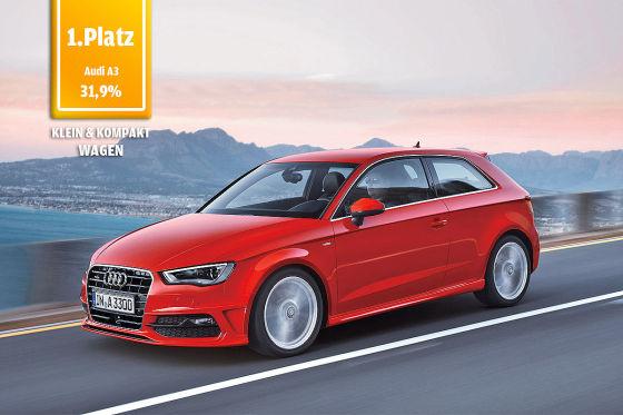 Audi A3: Platz 1 beim Design Award 2014 in der Klasse Klein- und Kompaktwagen
