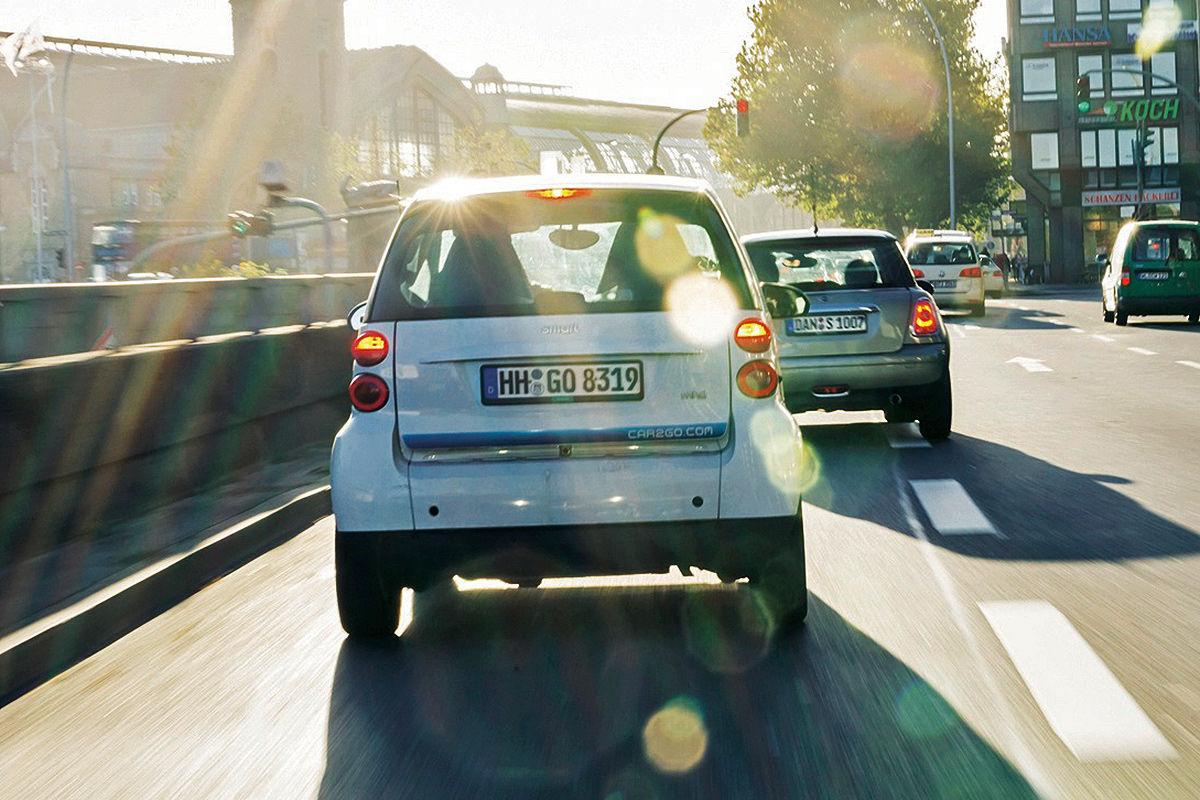 Carsharing: Fahrzeug von Car2Go
