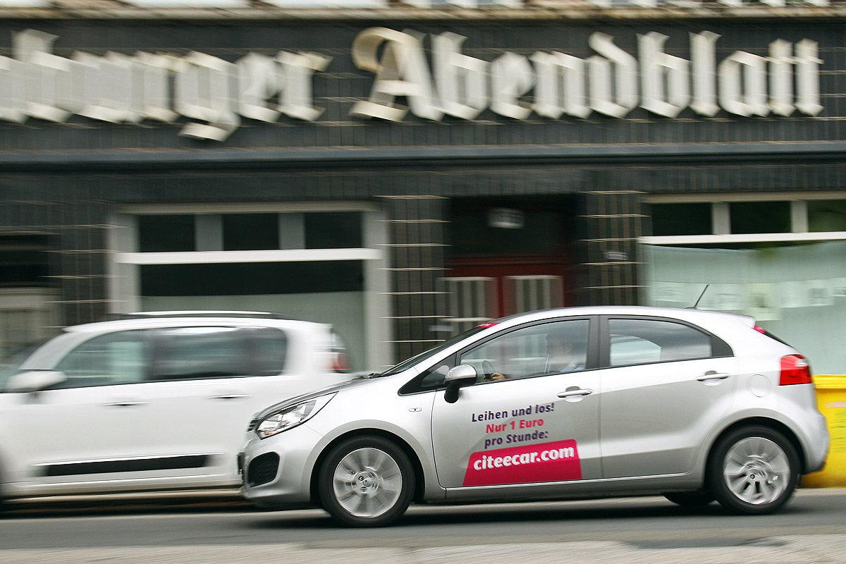 Carsharing: Fahrzeug von CiteeCar